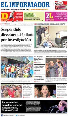 #DesayunoInformativo #Viernes #Titulares #Noticias #Portadas #PrimeraPagina 05/09/2014 @ElInformadorVE