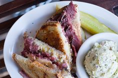 14 Tasty Sammies You Need To Try NOW! #refinery29  http://www.refinery29.com/best-sandwiches-san-francisco#slide10  Wise Sons Jewish Delicatessen, Reuben Pastrami Sandwich   Itching for a Jewish-deli-style pastrami sammy? Wise Sons Delicatessen is right up your alley then. This Mission hotspot is known for its outstanding Reuben Pastrami Sandwich. Prepared with pastrami, sauerkraut, Swiss cheese, and Russian dressing on rye bread — it's one crazy-good lunch option.   Wise Sons Jewish ...