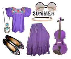 Purple Peasant by guinandgrace on Polyvore featuring Paul Frank, Express, Marc by Marc Jacobs, Aéropostale and peasanttop