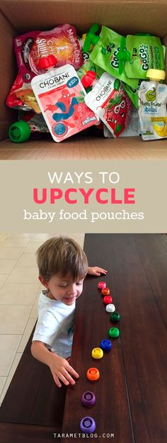 5 Amazing Ways to Re-use Baby Food Pouches and Caps