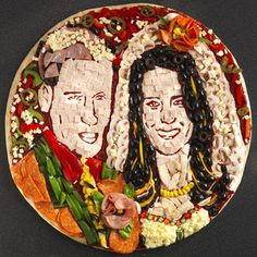 What to give the couple with everything? A royal wedding portrait pizza, of course.