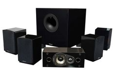 Home Theater Systems 5.1 Surround Sound Audio System Speakers Subwoofer 200 Watt #Energy