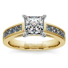 Treat your sweetheart to some stylish sparkle with the Princess Channel Diamond Engagement Ring in classic Yellow Gold!   http://www.brilliance.com/engagement-rings/princess-channel-diamond-ring-yellow-gold-1-ctw