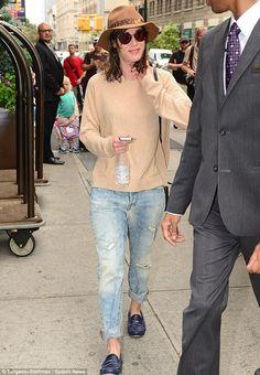 Lizzy Caplan in New York.