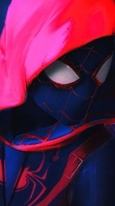 Miles Morales - Spider-Man, Into the Spider-Verse Amazing Spiderman, Black Spiderman, Spiderman Spider, Cartoon Wallpaper Hd, Marvel Wallpaper, Iphone Wallpaper, Mobile Wallpaper, Marvel Art, Marvel Heroes