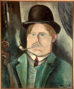 Maurice de Vlaminck (1876-1958) : Autoportrait à la pipe (1911 - Centre Pompidou)