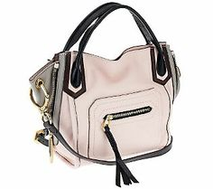 orYANY Pebble Leather Mini Ruby Color-Block Crossbody