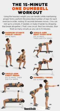 For a quick one-dumbbell workout. | These 29 Diagrams Are All You Need To Get In…
