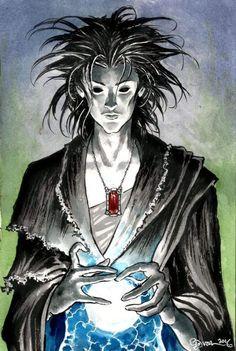 "failed-mad-scientist: ""Dream of the Endless - Daniel Govar "" Neil Gaiman, Morpheus Sandman, Death Sandman, Dc Comics, Image Comics, Rare Comic Books, Death Art, Modern Magic, Cyberpunk Art"