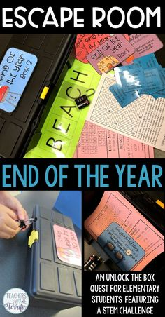 An Exciting Escape Room for the End of the Year - Teachers are Terrific Escape Room Diy, Escape Room For Kids, Escape Room Puzzles, End Of Year Party, End Of School Year, School Fun, End Of Year Activities, Stem Activities, Escape Room Challenge