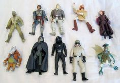LOT OF 10 STAR WARS Action Figures HASBRO KENNER Years Range from 1996 - 2005