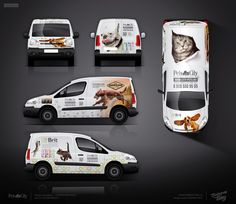 "The approved design of branding for the online store ""Pets in the city"" Van Signage, Pet Daycare, Vinyl Wrap Car, Vehicle Signage, Pet Shop, Van Design, Van Wrap, Car Advertising, Commercial Vehicle"