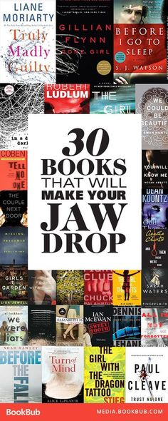 30 books that will make your jaw drop, including bestselling psychological thrillers and thriller books with plot twists with plenty of suspense. If you love the thrill of reading a book packed with twists, you've come to the right place. Books And Tea, I Love Books, My Books, Good Books To Read, Small Things Blog, Book Suggestions, Book Recommendations, Plot Twist, Reading Lists