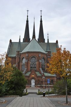 Skien church is a neo-Gothic church from 1894, Norway. The church of grandma's family in Skien. Here she was confirmed.