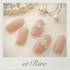 Opting for bright colours or intricate nail art isn't a must anymore. This year, nude nail designs are becoming a trend. Here are some nude nail designs. Holiday Nail Designs, Nail Art Designs, Bridal Nails, Wedding Nails, Love Nails, Pink Nails, Japanese Nail Art, Luxury Nails, Elegant Nails