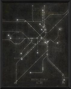 The Artwork Factory Boston Subway Map Framed Graphic Art