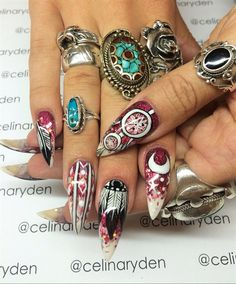 Red Native - Nail Art Gallery