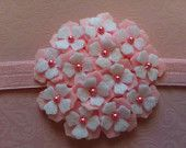 Items similar to Pink and White Hydrangea Flower Headband on Etsy Felt Roses, Felt Flowers, Diy Flowers, Hobbies And Crafts, Diy And Crafts, Felt Hair Accessories, Baby Flower Headbands, Felt Embroidery, Cloth Flowers