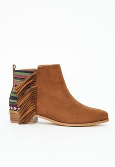 Navajo Tassel Ankle Boot Tan - Shoes - Ankle Boots - Missguided