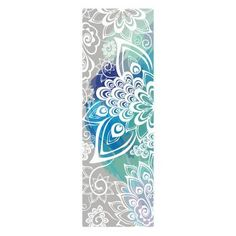 Peacock Feather Print, Eco-Friendly Rubber, Non Slip Training High Quality Yoga Mat, YMT
