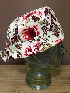 Forest Floor Surgical Scrub Hat, Women's Beautiful Floral Pixie Scrub Cap, Custom Caps Company by CustomCapsCompany on Etsy