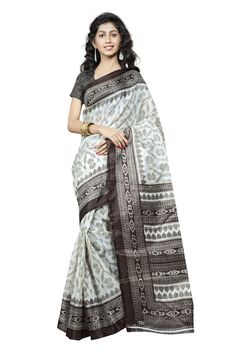 http://www.thatsend.com/shopping/lp/fvp/TESG229042/qf/color[]black  Black Silk Casual Saree Apparel Pattern Printed. Work Print. Blouse Piece Yes. Occasion Festive, Sangeet. Top Color Black.