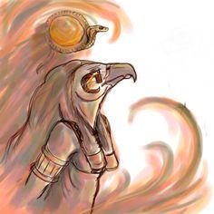 Powerless (Egyptian God Ra) by Chloe Bedford (Old Piece)