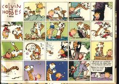Calvin and Hobbes - Summer days seem so short Calvin Y Hobbes, Calvin And Hobbes Wallpaper, Hobbes And Bacon, John Calvin, My Calvins, Fun Comics, I Fall In Love, Summer Days, Pink Summer