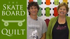 The Skateboard Quilt: Easy Quilt Tutorial with Jenny Doan of MSQC and Man Sewer Rob Appell. Missouri Star Quilt Co's Jenny teams up with Rob Appell of Man Sewing to show us how to make a cool skateboard quilt using precut fabric.