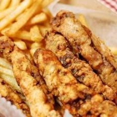 Finger steaks are simply strips of steak that have been battered in beer and seasoned flour and deep fried. Deep Fried Steak, Steak Recipes, Cooking Recipes, Steak Meals, Smoker Recipes, Budget Recipes, Sandwich Recipes, Turkey Recipes, Steak Fingers