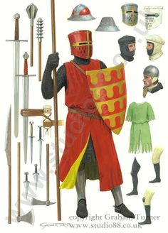 English Knight c.1250 - Original painting
