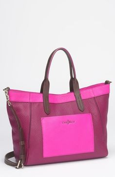 Cole Haan 'Crosby Colorblock - Small' Shopper Winery/ Orchid in  from Nordstrom on shop.CatalogSpree.com, your personal digital mall.