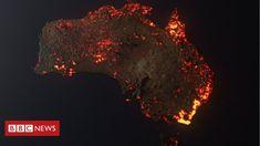 Australia fires: Misleading maps and pictures go viral - BBC News Australia Beach, Australia Map, Armenia Travel, Travel Doodles, California Wildfires, Volunteer Firefighter, Nature Illustration, Image Caption, Global Warming