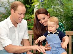 """British Royals via Twitter-New photo by John Stillwell taken on July 2, of Prince George with his parents the Duke and Duchess of Cambridge, released to mark his first birthday, July 22, 2014.  The Duke and Duchess also made a statement:  """"We'd like to take this opportunity on George's first birthday to thank everyone over the last year, wherever we have met them both at home and overseas, for their warm and generous good wishes to George and our family."""""""