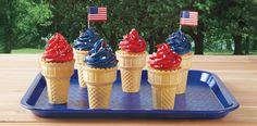 Patriotic Cup Cones recipe from the ALDI Test Kitchen