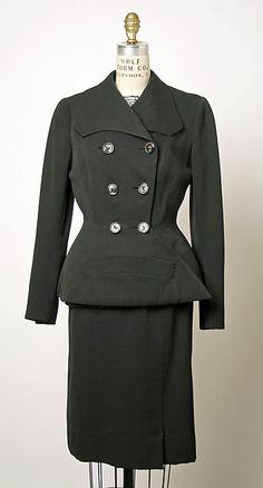 The Tailor's Desire Suits For Women, Women Wear, Elsa Schiaparelli, Italian Fashion Designers, Wool Suit, Peplum Dress, Vintage Fashion, My Style, Metropolitan Museum