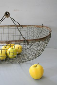 French wire orchard basket.