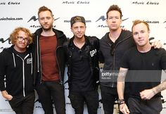 Members of OneRepublic Drew Brown, Brent Kutzle, Ryan Tedder, Zach Filkins and Eddie Fisher visit at Music Choice on October 13, 2016 in New York City.