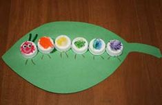 Bottle cap caterpillar craft: The Very Hungry Caterpillar {all kids network} Kids Crafts, Bug Crafts, Spring Crafts For Kids, Daycare Crafts, Toddler Crafts, Crafts To Do, Projects For Kids, Art For Kids, Arts And Crafts