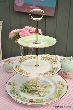 A Vintage 3 Tier Cake Stand for an Easter Tea Party