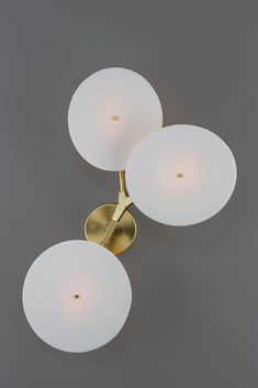 """""""Branching"""" a brass and porcelain wall light by Lindsay Adelman."""