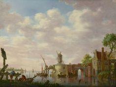 Heinrich Wilhelm Schweickhardt (1746-1797) A Dutch river landscape with fishermen, oil on panel. Collection Simonis & Buunk, The Netherlands
