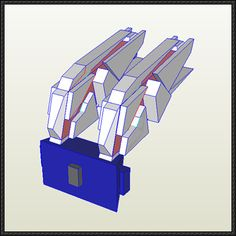 RX-0 Unicorn Gundam Backpack Free Paper Model Download - http://www.papercraftsquare.com/rx-0-unicorn-gundam-backpack-free-paper-model-download.html