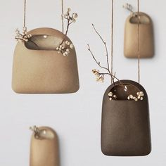 Ceramic Hanging Vase (Set of 2) ($53) ❤ liked on Polyvore featuring home, home decor, vases, twin pack, ceramic home decor and ceramic vase