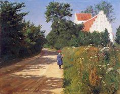 """""""Niña con flores del prado"""". Hans Andersen Brendekilde (Little girl with meadow flowers"""