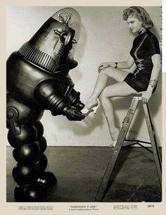 woman + Robot  Vintage Future - Retro Futurism - Vintage Sci Fi  - Atomic Age - Space Age