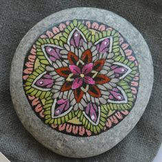 Mandala Magenta Harmony small painting on by merveilleuseboutique