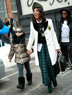 June Ambrose When ever i see her out she had s fierce purse in one hand and her daughter in the other ...