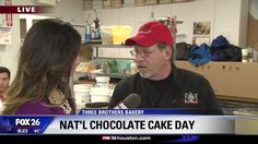 Our @ThreeBrothersBakery teaches Fox Houston a thing or two about celebrating #NationalChocolateDay.