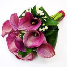 Ramo de novia calas rosas